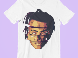 XXX TENTACION art digital t-shirt flocage impression numérique wear gift artwork trill dope hiphop rapper illustration cover  creation design arty
