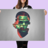 j-cole art digital affiche large grand poster impression numérique décoration murale gift artwork trill dope hiphop rapper illustration creation design arty